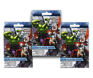 3-Pack Set Marvel Avengers Jumbo Playing Cards (Crazy 8's, Go Fish, Rummy, More!)