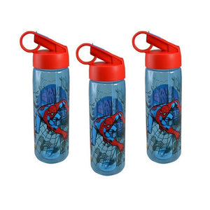 Zak Designs 3-Pack Marvel's Spider-Man 25oz Aspen Tritan Water Bottle Sipper Ring Top, BPA-free