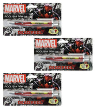 "[3-Pack] Marvel Comics Deadpool ""Poolism"" Funny Click Phrase Pen Set"