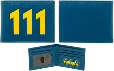 Bethesda Fallout 4 Vault 111 Blue Faux Leather Bi-Fold Wallet