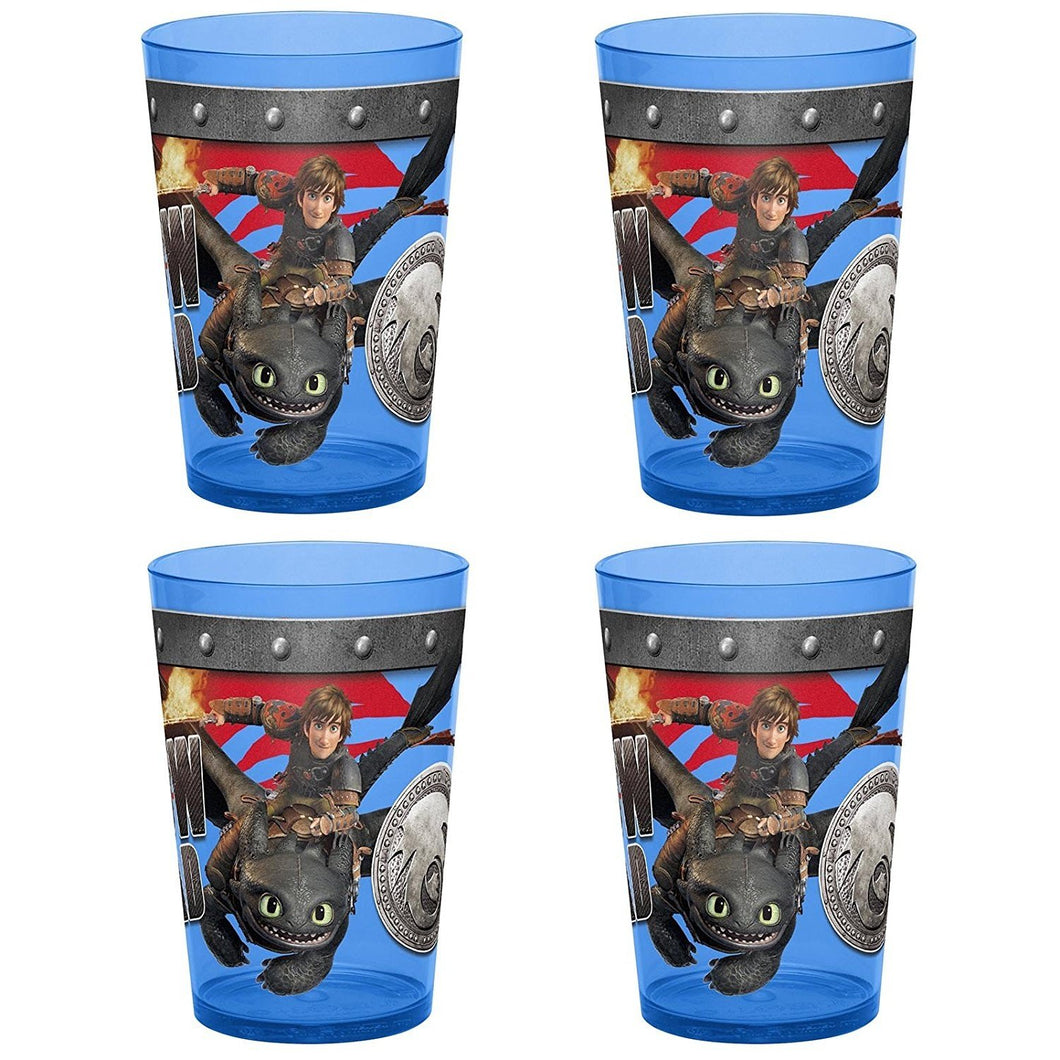 [4-Pack] How to Train Your Dragon 2 Kids Drinking Cup Tumbler Set, 14.5oz