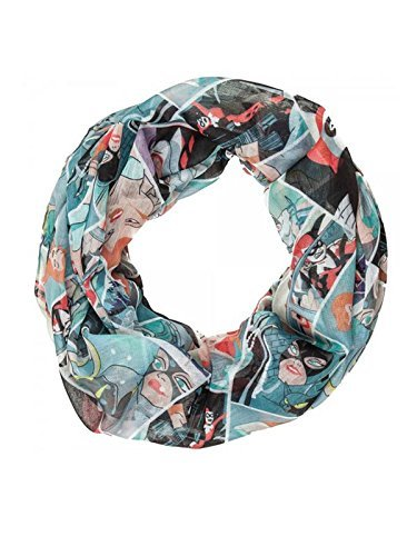 DC Comics Classic Batman Villains Sheer Infinity Scarf, Poison Ivy, Harley Quinn, Catwoman