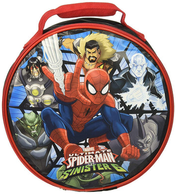 Marvel Ultimate Spider-Man 9.5-inch Round Insulated Lunch Box Bag