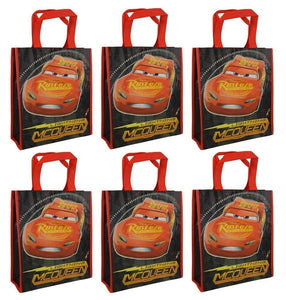 6-Pack Disney-Pixar Cars Lightning McQueen Reusable 12-inch Tote Bags/Party Favor Goodie Bags