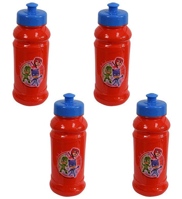 [4-Pack] Disney PJ Masks Kids 16oz Pull-Top Water Bottles, Red/Blue, BPA-Free