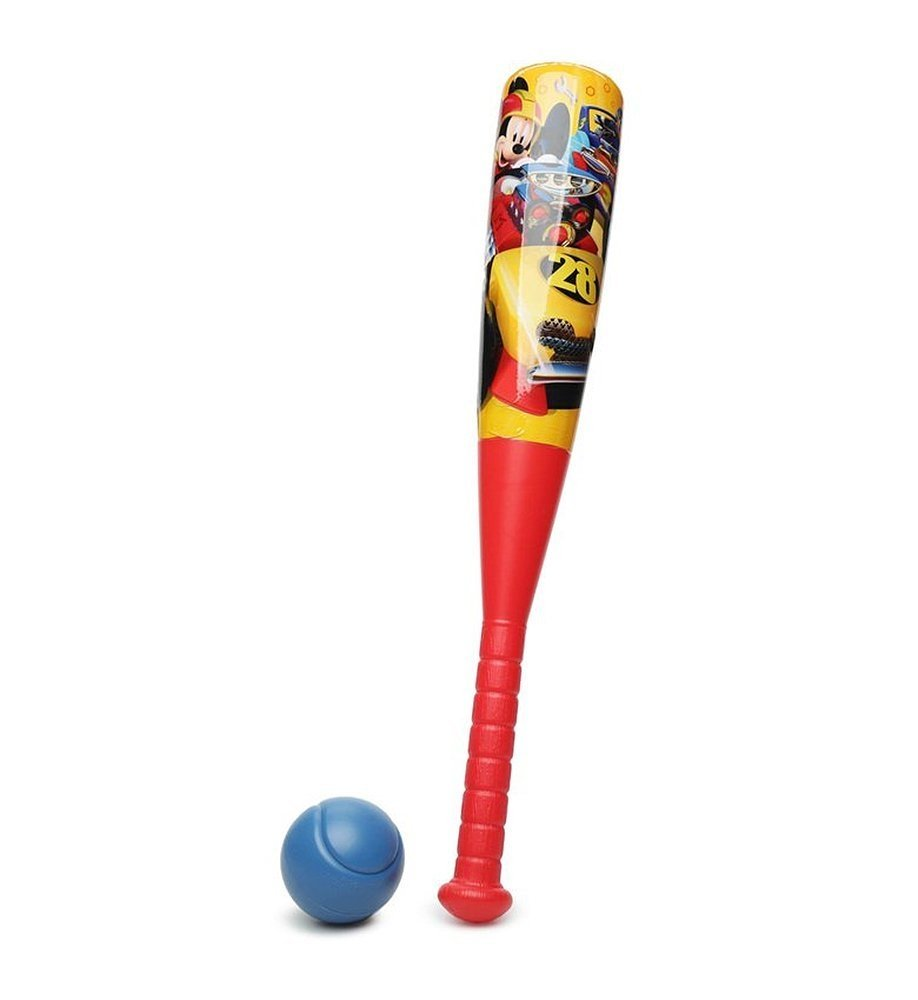 Disney Mickey Mouse Roadsters Kids Plastic Baseball & Bat Set