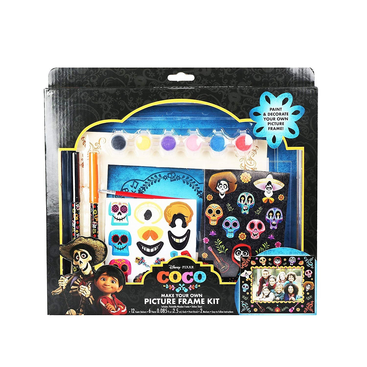Disney Pixar Coco Make Your Own Picture Frame Kit With Wooden Frame