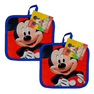 [Set of 2] Disney's Mickey Mouse Clubhouse Blue & Red Quilted Pot Holders