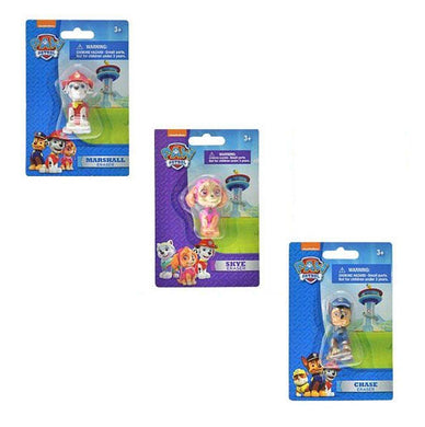 [3-Pack] Paw Patrol 2-inch 3D Figure Erasers: Chase, Marshall, Skye