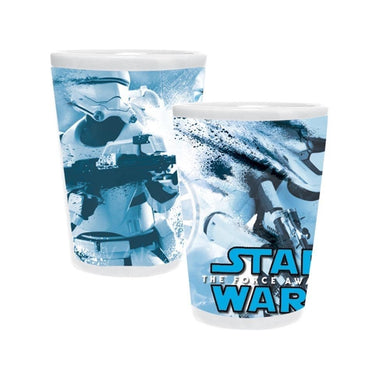 [Set of 2] Star Wars TFA Stormtrooper Splatter Ceramic Toothpick Holder / Shot Glass Set
