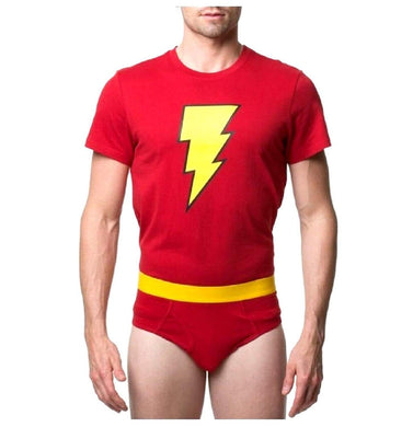 DC Comics Shazam! Men's Underoos T-Shirt & Underwear Briefs 2-pc Set