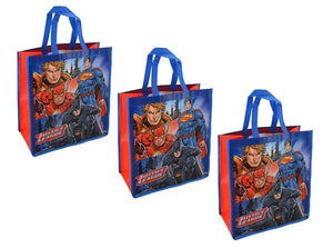 3-Pack DC Comics Justice League Large 15.5-inch Reusable Shopping Tote or Gift Bag
