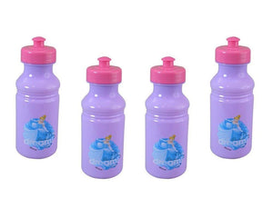 Disney 4-Pack Princess Cinderella Kids 17oz Pull-Top Water Bottles, Purple Pink