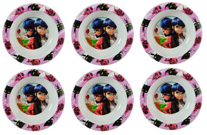 "[6-Pack] Miraculous Ladybug 6.5"" Plastic Reusable Kids Cereal Bowls"