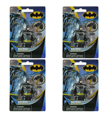 4-Pack Batman 3D Molded 2.25
