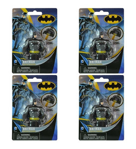 "4-Pack Batman 3D Molded 2.25"" Action Figure & Pencil Topper Eraser Set"