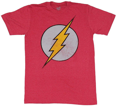 DC Comics The Flash Distressed Classic Logo Men's T-Shirt, Red