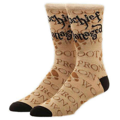 Harry Potter Mischief Managed Marauder's Map Crew Socks, Sock Size 10-13