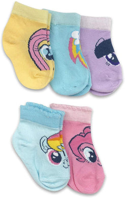 5-Pack My Little Pony Faces Baby Girls' Cuff Socks (12-24M)