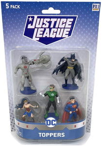 DC Comics Justice League 5pk Pencil Topper Figures