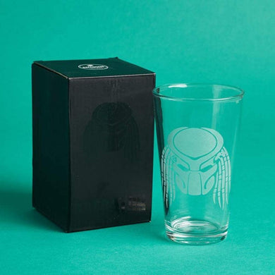The Predator Mask Etched Pint Drinking Beer Glass Loot Crate Exclusive