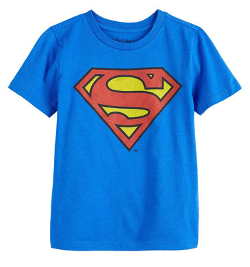 Jumping Beans DC Comics Superman Boys' Short Sleeve Graphic Tee, Blue (6)