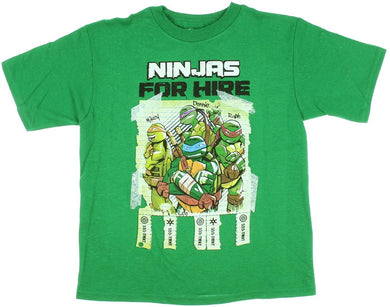 Teenage Mutant Ninja Turtles For Hire Boys' Graphic T-Shirt, Green, Small