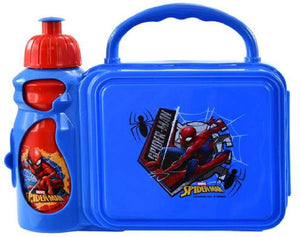 Marvel Spider-Man Kids' Lunch Box with Water Bottle Combo, Blue