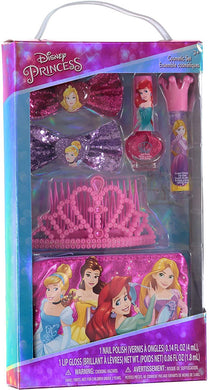 Disney Princess Cosmetic Set with Tiara, Nail Polish, Lip Gloss