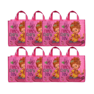 Disney 8-Pack Fancy Nancy Reusable 10-inch Tote/Party Favor Bags, Pink