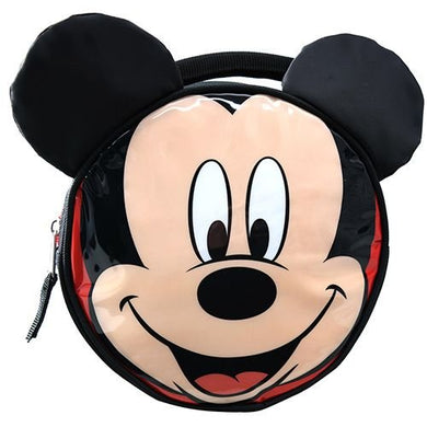 Disney Mickey Mouse Shiny PVC Round Insulated Lunch Bag with Ears & Handle