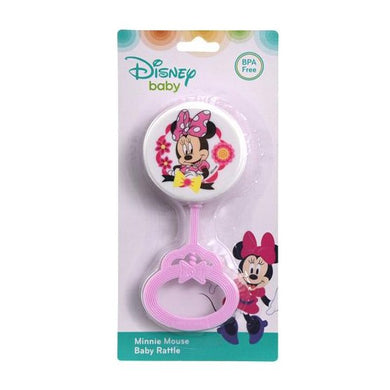 Disney Minnie Mouse Baby Lollipop Style Toy Rattle, BPA-Free
