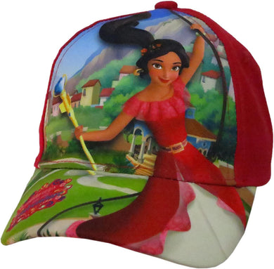 Disney Elena of Avalor Girls Red Cotton Baseball Cap Hat, Red