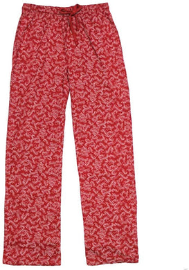 Harry Potter Spells All-Over-Print Men's Lounge Sleep Pajama Pants, Red
