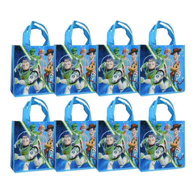 [8-Pack] Disney-Pixar Toy Story Reusable 10-inch Tote/Party Favor Treat Bags