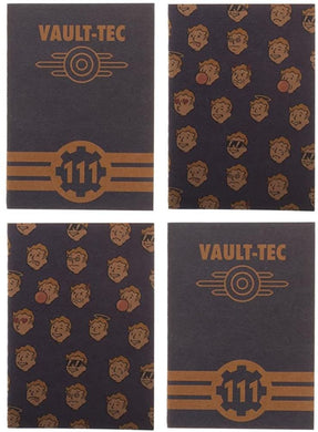 Set of 4 Fallout Vault-Tech 48-pg Pocket Journals: 15 cm x 10 cm Notebooks