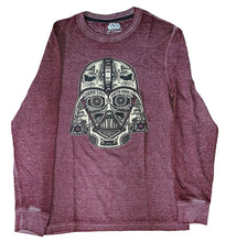 Star Wars Darth Vader Men's Long Sleeve Thermal Graphic T-Shirt, Dark Red