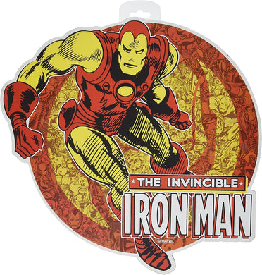 Silver Buffalo MC6006 Marvel Iron Man Matching Background Die Cut Sign, 13 x 12.5 inches