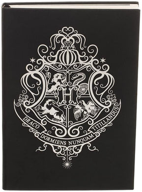 Harry Potter Hogwarts Crest Faux Leather Notebook Journal, Black