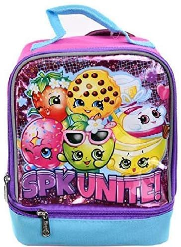 Shopkins SPK Unite! Drop Bottom Insulated Kids' Lunch Box Bag with Handle