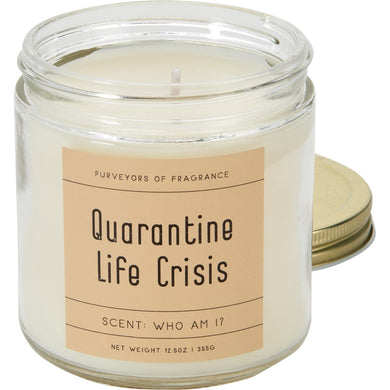 "Purveyors of Fragrance ""Quarantine Life Crisis"" Scent: Who Am I? Humor Candle"