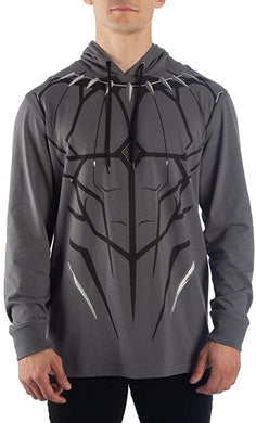 Marvel Black Panther Cosplay Men's Long Sleeve Tee Pullover Hoodie Sweatshirt