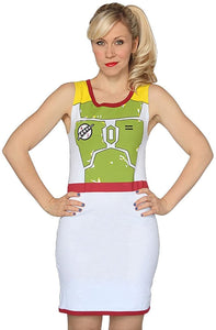 Star Wars Boba Fett Junior's Tunic Tank Fitted Dress Costume
