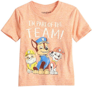 Toddler Boy Jumping Beans Paw Patrol Team Short Sleeve Graphic Tee, Orange