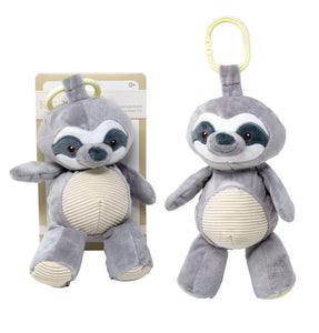 Sloth Grey Sloth Baby Seat Belt Cover with Corduroy Trim