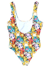 Forever 21 Pokémon All-Over Graphic Print One Piece Swim Suit Bodysuit