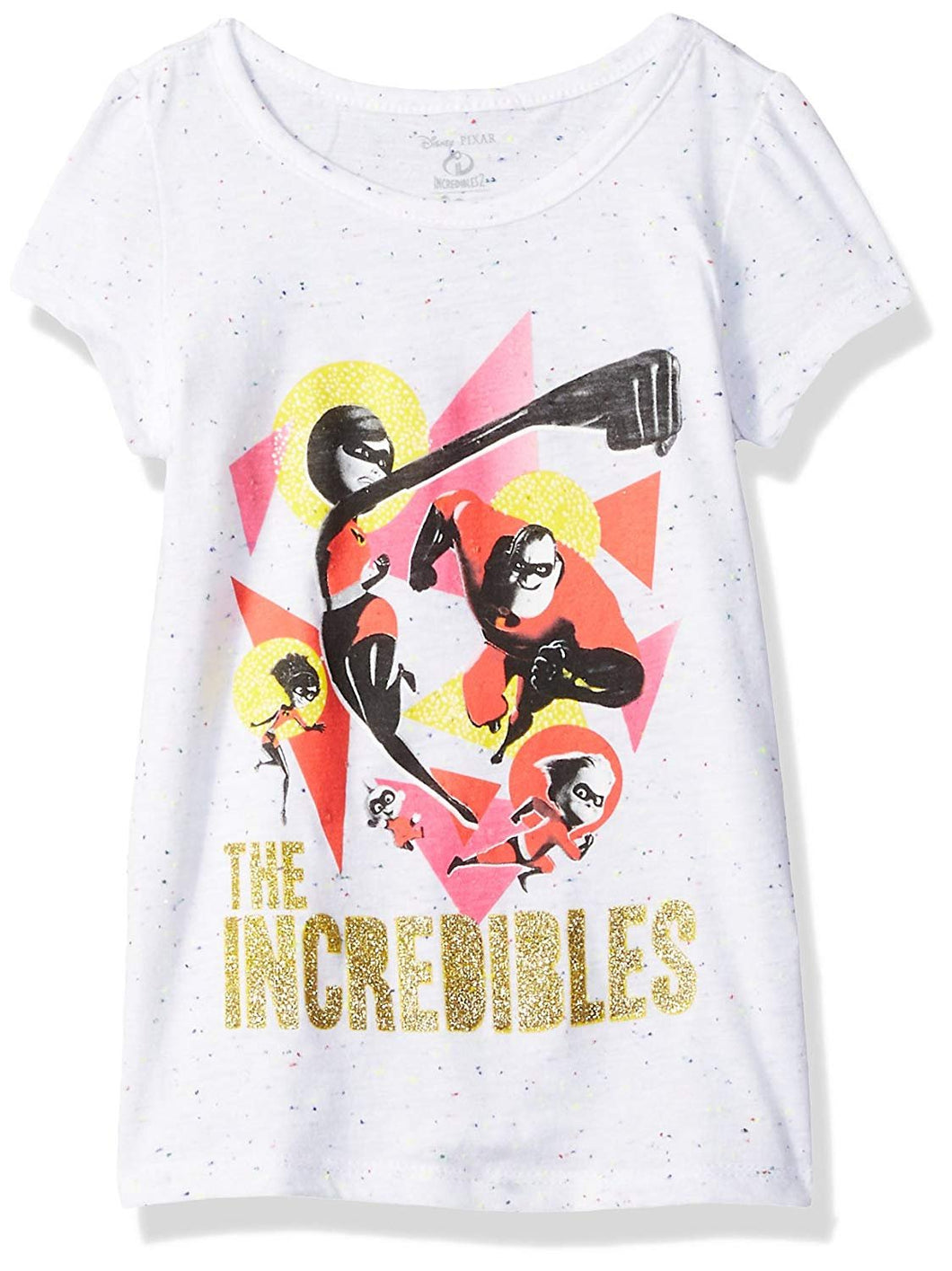 Disney-Pixar Incredibles 2 Family Group Toddler Girls' Short Sleeve T-Shirt, White