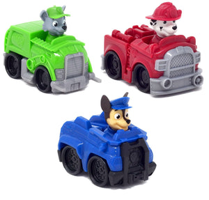 Paw Patrol Rescue Racer Vehicles - Set of 3: Marshall, Chase, Rocky