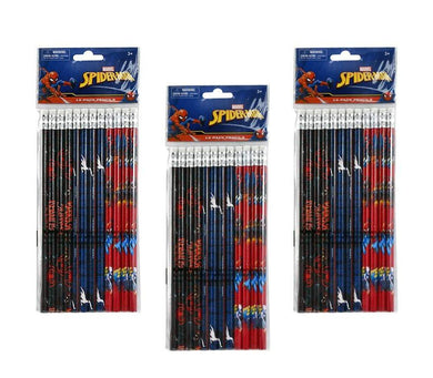 3-Pack Marvel Spider-Man 12ct #2 Wood Pencils (36 Total)