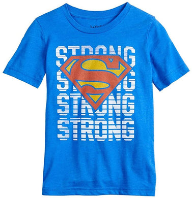 Boys 4-12 Jumping Beans DC Comics Superman Strong Short Sleeve Graphic Tee, Blue